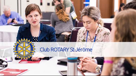 Le Club Rotary de Saint-Jérôme réunit des personnes volontaires ayant le même désir : faire une différence pour les gens de leur communauté. C'est l'élitisme de la disponibilité et de la bonne volonté. C'e